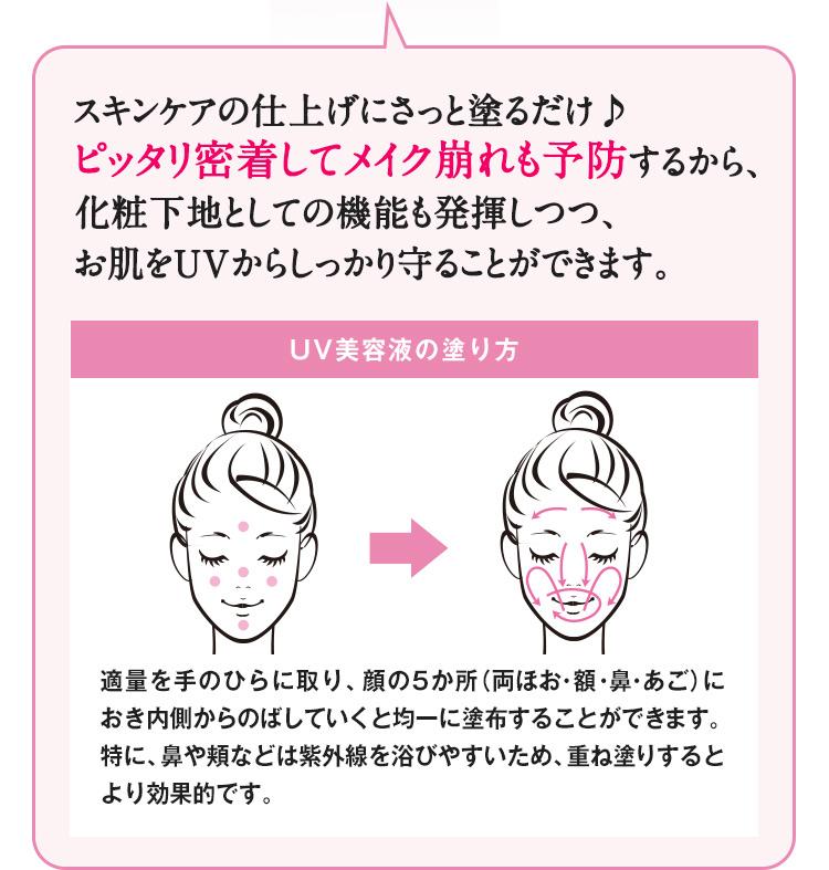 UV美容液の塗り方