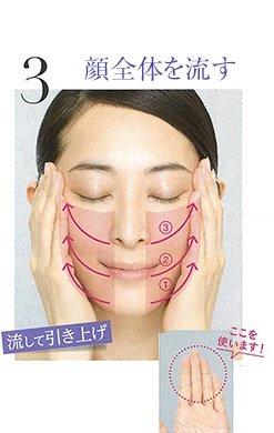 3.顔全体を流す