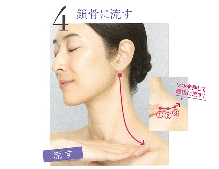 4.頬の下の筋肉をほぐす